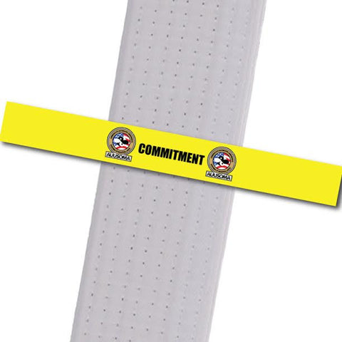AUUSOMA - Commitment Achievement Stripes - BeltStripes.com : The #1 Source for Martial Arts Belt Tape
