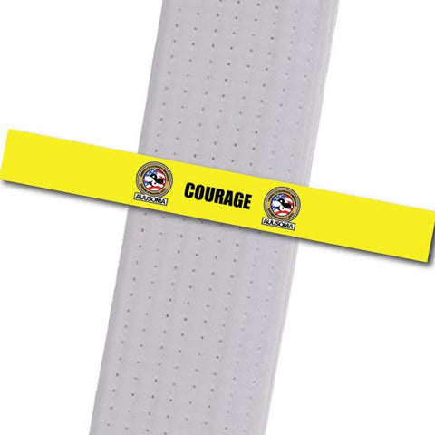 AUUSOMA - Courage Achievement Stripes - BeltStripes.com : The #1 Source for Martial Arts Belt Tape