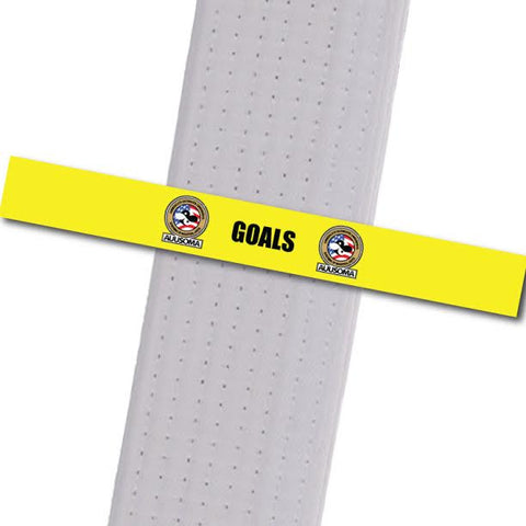 AUUSOMA - Goals Achievement Stripes - BeltStripes.com : The #1 Source for Martial Arts Belt Tape