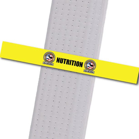 AUUSOMA - Nutrition Achievement Stripes - BeltStripes.com : The #1 Source for Martial Arts Belt Tape