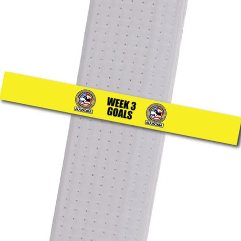 AUUSOMA - Week 3 Goals Achievement Stripes - BeltStripes.com : The #1 Source for Martial Arts Belt Tape