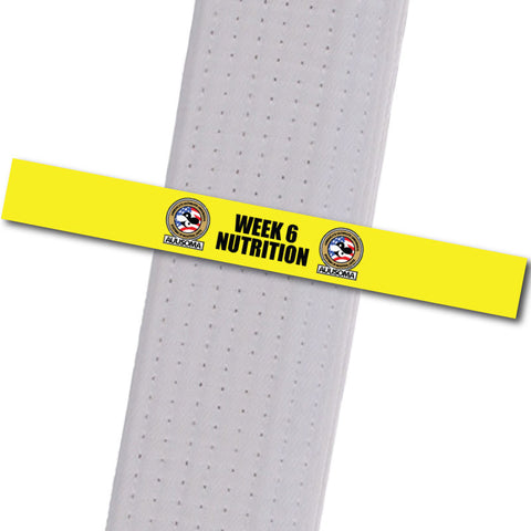 AUUSOMA - Week 6 Nutrition Achievement Stripes - BeltStripes.com : The #1 Source for Martial Arts Belt Tape