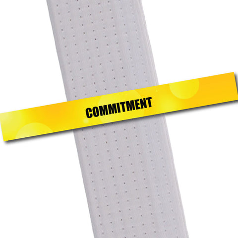 Achievement BeltStripes - Commitment Achievement Stripes - BeltStripes.com : The #1 Source for Martial Arts Belt Tape
