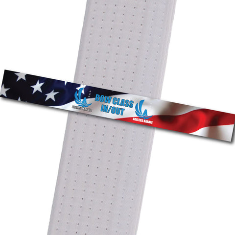 Ageless Karate - Bow Class In/Out Custom Belt Stripes - BeltStripes.com : The #1 Source for Martial Arts Belt Tape