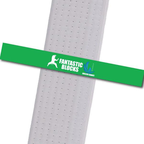 Ageless Karate - Little Ninjas - Fantastic Blocks Custom Belt Stripes - BeltStripes.com : The #1 Source for Martial Arts Belt Tape