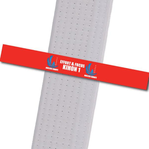 Ageless Karate - Move by Move - Effort&Focus-KIHON 1 Custom Belt Stripes - BeltStripes.com : The #1 Source for Martial Arts Belt Tape