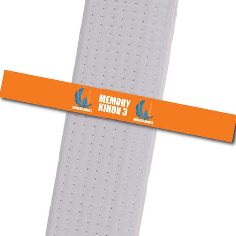 Ageless Karate - Move by Move - Memory-KIHON 3 Custom Belt Stripes - BeltStripes.com : The #1 Source for Martial Arts Belt Tape