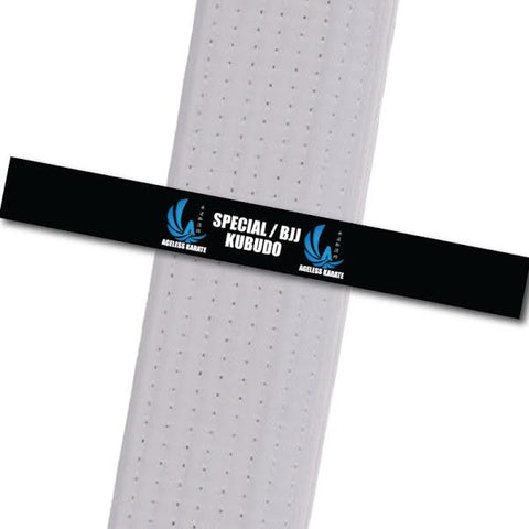 Ageless Karate - Move by Move - Special/BJJ/Kubudo Custom Belt Stripes - BeltStripes.com : The #1 Source for Martial Arts Belt Tape