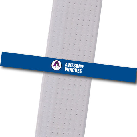 Apex MA - Awesome Punches Custom Belt Stripes - BeltStripes.com : The #1 Source for Martial Arts Belt Tape