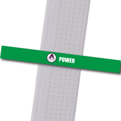 Apex MA - Power Custom Belt Stripes - BeltStripes.com : The #1 Source for Martial Arts Belt Tape
