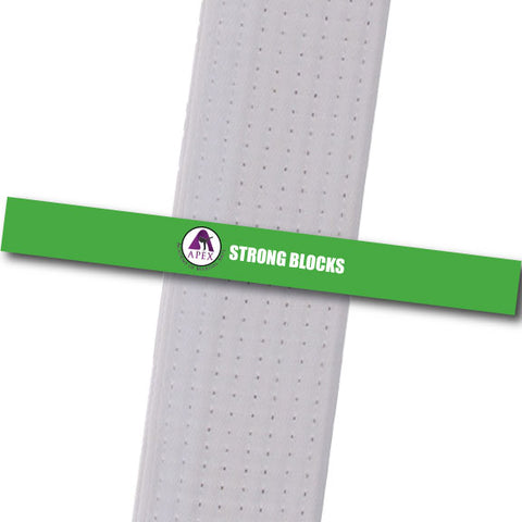 Apex MA - Strong Blocks Custom Belt Stripes - BeltStripes.com : The #1 Source for Martial Arts Belt Tape