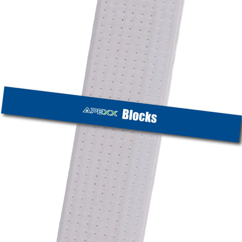 Apexx MA - Blocks Custom Design Program - BeltStripes.com : The #1 Source for Martial Arts Belt Tape