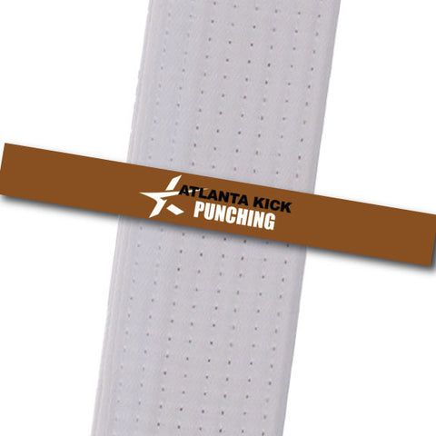 Atlanta Kick - Punching Custom Belt Stripes - BeltStripes.com : The #1 Source for Martial Arts Belt Tape