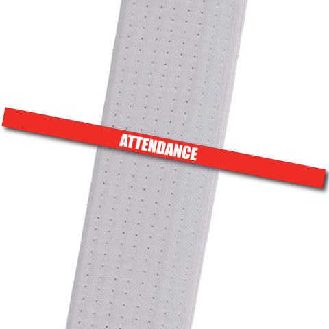 Attendance Stripes - Red Achievement Stripes - BeltStripes.com : The #1 Source for Martial Arts Belt Tape