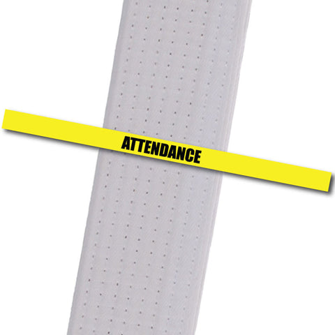 Attendance Stripes - Yellow Achievement Stripes - BeltStripes.com : The #1 Source for Martial Arts Belt Tape
