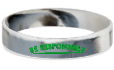 MatChats - Be Responsible Silicone Wrist Bands - Level 4: Champion Achievement Stripes - BeltStripes.com : The #1 Source for Martial Arts Belt Tape