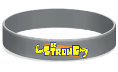 MatChats - Be Strong Silicone Wrist Bands - Level 4: Champion Achievement Stripes - BeltStripes.com : The #1 Source for Martial Arts Belt Tape
