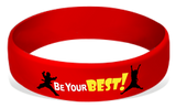 Be Your Best! Silicone Wrist Bands Achievement Stripes - BeltStripes.com : The #1 Source for Martial Arts Belt Tape