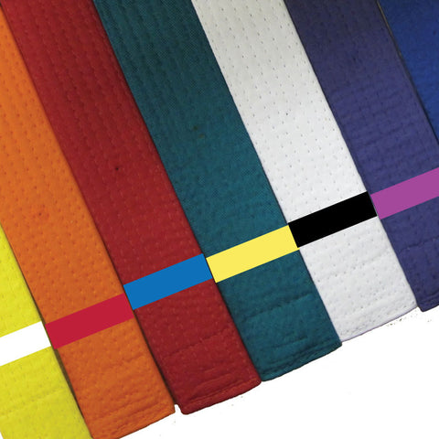 Belt Rank Belt Stripes - Our 8 Most Popular Colors in One Convenient Pack Blank Belt Stripes - BeltStripes.com : The #1 Source for Martial Arts Belt Tape