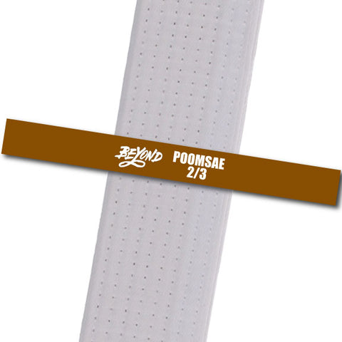 Beyond MA - Poonsae 2/3 Custom Belt Stripes - BeltStripes.com : The #1 Source for Martial Arts Belt Tape