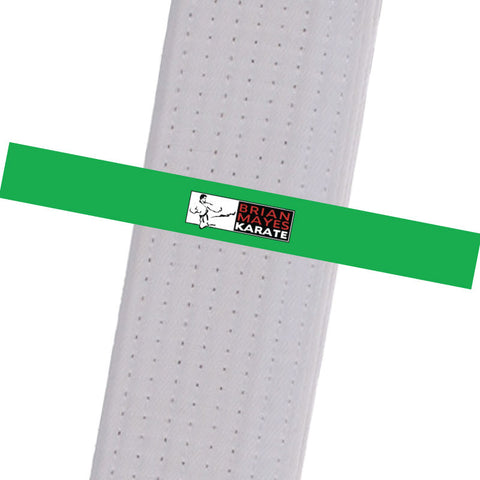 Brian Mayes Karate - Green Custom Belt Stripes - BeltStripes.com : The #1 Source for Martial Arts Belt Tape