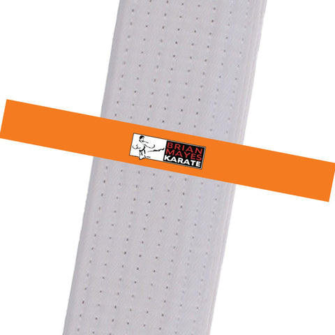Brian Mayes Karate - Orange Custom Belt Stripes - BeltStripes.com : The #1 Source for Martial Arts Belt Tape
