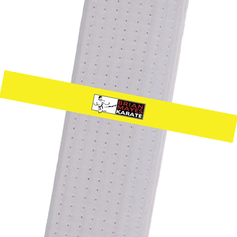 Brian Mayes Karate - Yellow Custom Belt Stripes - BeltStripes.com : The #1 Source for Martial Arts Belt Tape