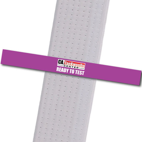 Ca. TaeKwonDo Center - Ready to Test - Purple Custom Belt Stripes - BeltStripes.com : The #1 Source for Martial Arts Belt Tape