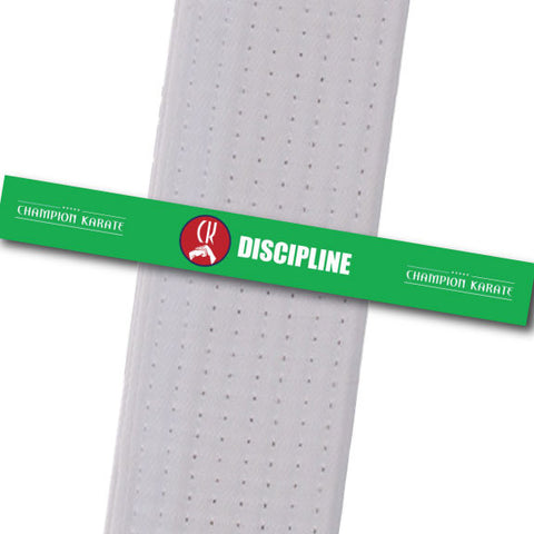 Champion Karate - Discipline Achievement Stripes - BeltStripes.com : The #1 Source for Martial Arts Belt Tape