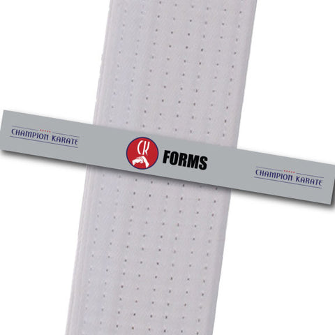 Champion Karate - Forms Achievement Stripes - BeltStripes.com : The #1 Source for Martial Arts Belt Tape