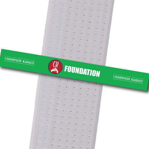 Champion Karate - Foundation Achievement Stripes - BeltStripes.com : The #1 Source for Martial Arts Belt Tape