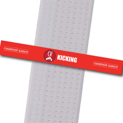 Champion Karate - Kicking Achievement Stripes - BeltStripes.com : The #1 Source for Martial Arts Belt Tape