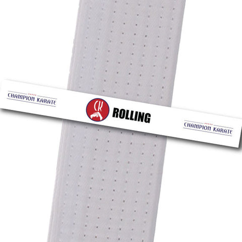 Champion Karate - Rolling Achievement Stripes - BeltStripes.com : The #1 Source for Martial Arts Belt Tape