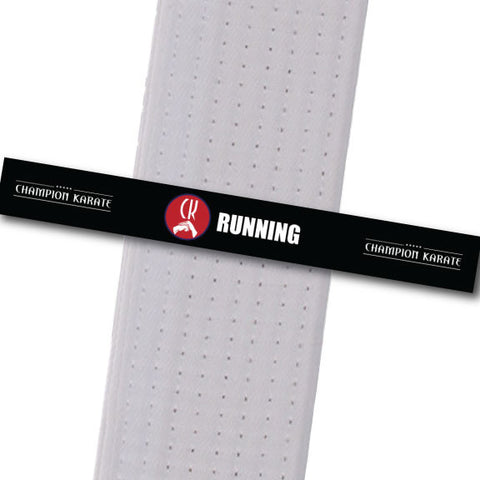 Champion Karate - Running Achievement Stripes - BeltStripes.com : The #1 Source for Martial Arts Belt Tape