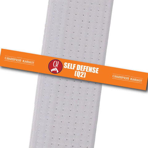 Champion Karate - Self Defense (Q2) Achievement Stripes - BeltStripes.com : The #1 Source for Martial Arts Belt Tape