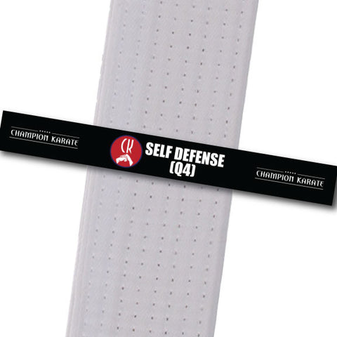 Champion Karate - Self Defense (Q4) Achievement Stripes - BeltStripes.com : The #1 Source for Martial Arts Belt Tape