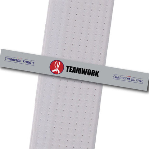 Champion Karate - Teamwork Achievement Stripes - BeltStripes.com : The #1 Source for Martial Arts Belt Tape