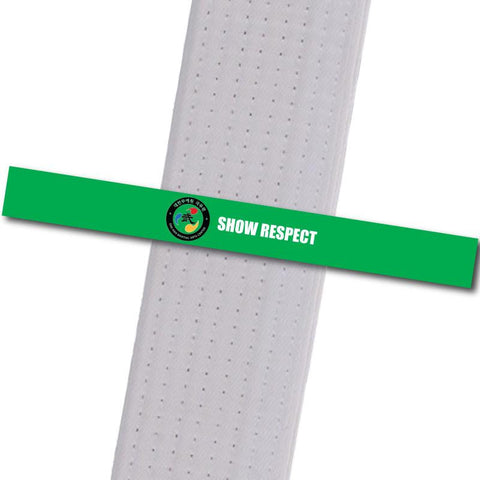 Dae Han MAC - Show Respect Custom Belt Stripes - BeltStripes.com : The #1 Source for Martial Arts Belt Tape