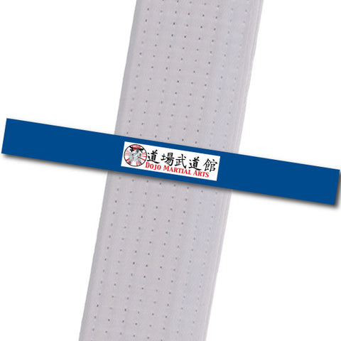 Dojo MA - Logo Only - Blue Custom Belt Stripes - BeltStripes.com : The #1 Source for Martial Arts Belt Tape