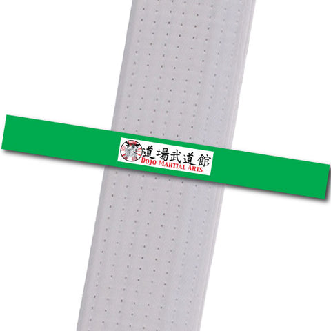 Dojo MA - Logo Only - Green Custom Belt Stripes - BeltStripes.com : The #1 Source for Martial Arts Belt Tape