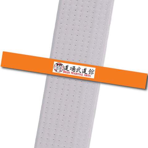 Dojo MA - Logo Only - Orange Custom Belt Stripes - BeltStripes.com : The #1 Source for Martial Arts Belt Tape