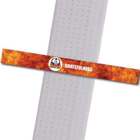 Elite MA Florida - Gratefulness Custom Belt Stripes - BeltStripes.com : The #1 Source for Martial Arts Belt Tape