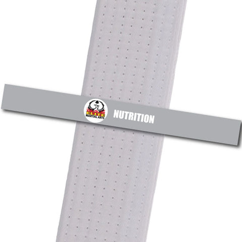 Elite MA Florida - Nutrition Custom Belt Stripes - BeltStripes.com : The #1 Source for Martial Arts Belt Tape