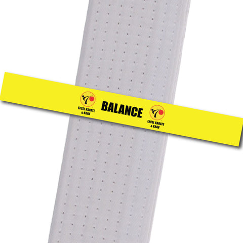 Excel Karate & Krav - Balance Custom Belt Stripes - BeltStripes.com : The #1 Source for Martial Arts Belt Tape