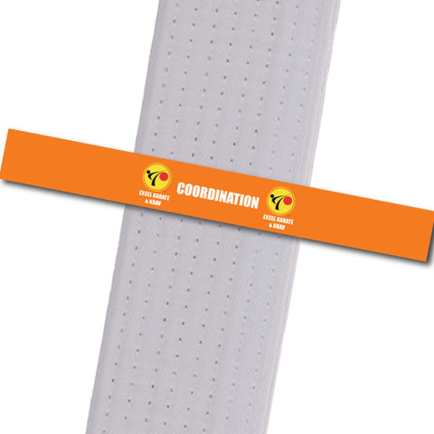 Excel Karate & Krav - Coordination Custom Belt Stripes - BeltStripes.com : The #1 Source for Martial Arts Belt Tape