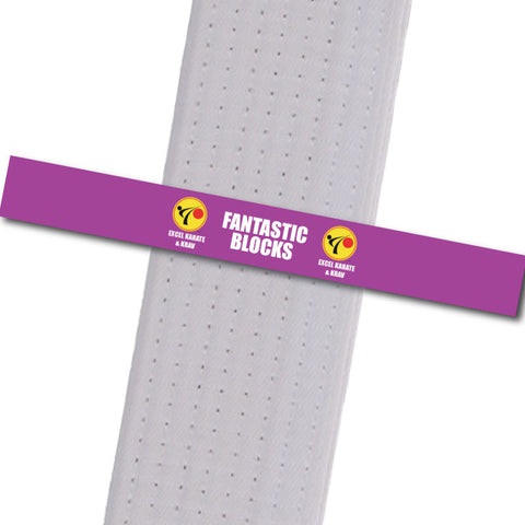 Excel Karate & Krav - Fantastic Blocks Custom Belt Stripes - BeltStripes.com : The #1 Source for Martial Arts Belt Tape