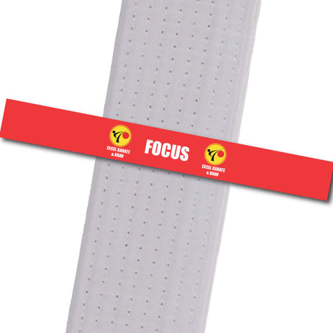 Excel Karate & Krav - Focus Custom Belt Stripes - BeltStripes.com : The #1 Source for Martial Arts Belt Tape