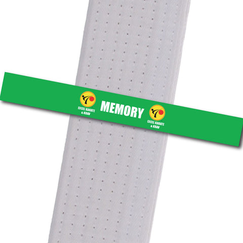 Excel Karate & Krav - Memory Custom Belt Stripes - BeltStripes.com : The #1 Source for Martial Arts Belt Tape