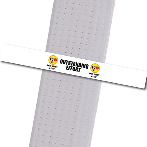 Excel Karate & Krav - Outstanding Effort Custom Belt Stripes - BeltStripes.com : The #1 Source for Martial Arts Belt Tape
