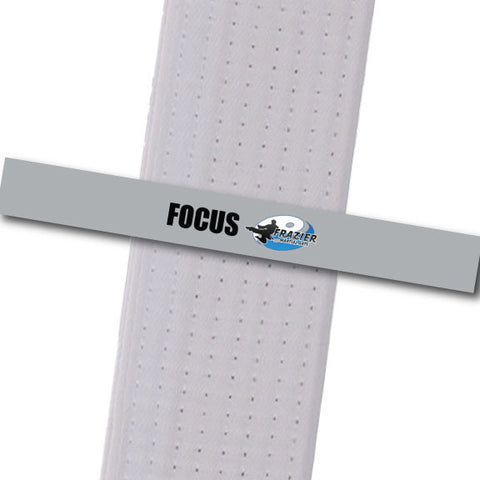Frazier Martial Arts - Focus Custom Belt Stripes - BeltStripes.com : The #1 Source for Martial Arts Belt Tape